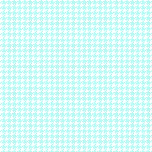 Teal Houndstooth