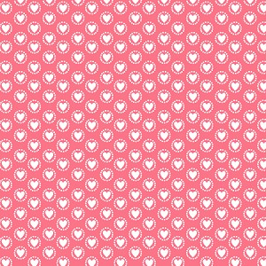 Dotty Heart Red
